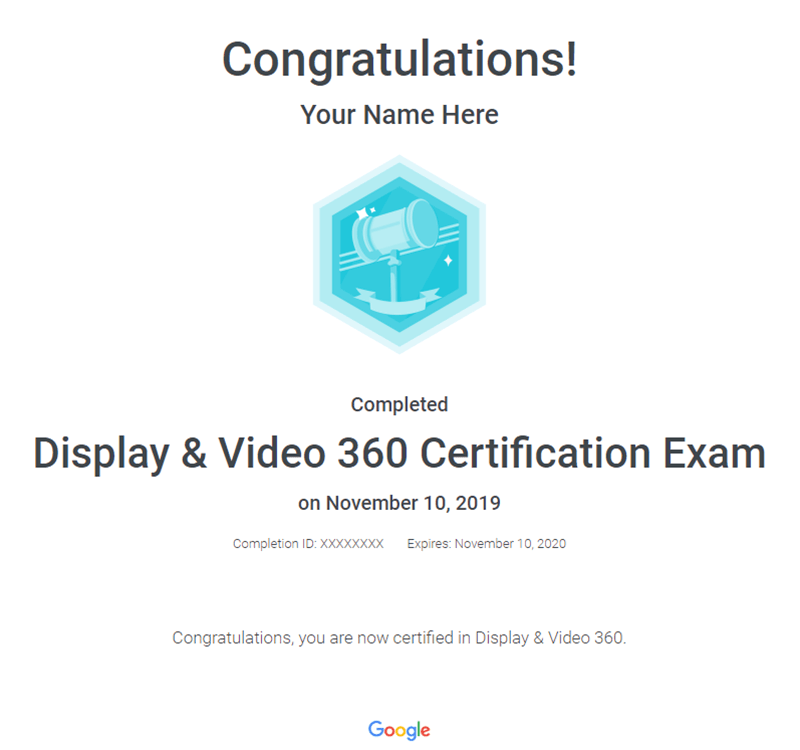 display-video-certificate